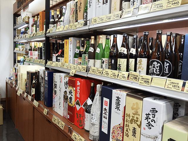 水が美味しい土地ならではの「美酒」のラインナップ!花まるっ秋田ふるさと館。