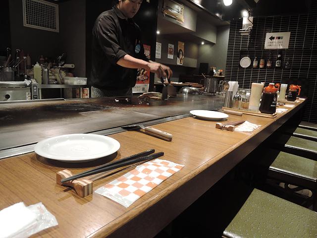 お好み焼きも地酒でいただく!広島お好み焼き 三匠。