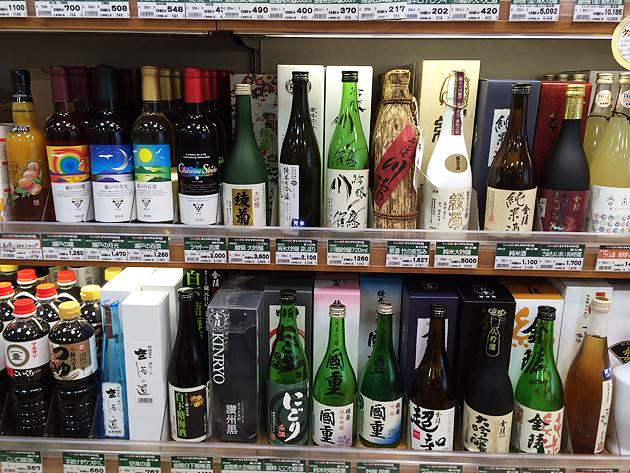 香川、愛媛の特産品をそれぞれ上手に網羅された香川・愛媛せとうち旬彩館。