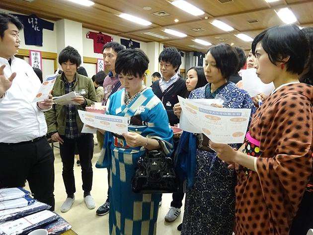 """名酒センター主催""""TOKYO SAKE COLLECTION In 増上寺""""にて開催された、酒徒名人会による日本酒マッチングの様子"""