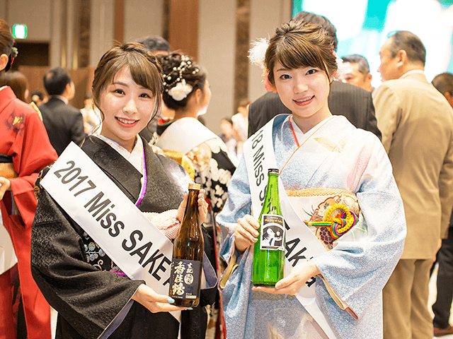 2018 ミス日本酒 秋田代表 松田きよら 先輩の戸嶋一葉さんと2ショット