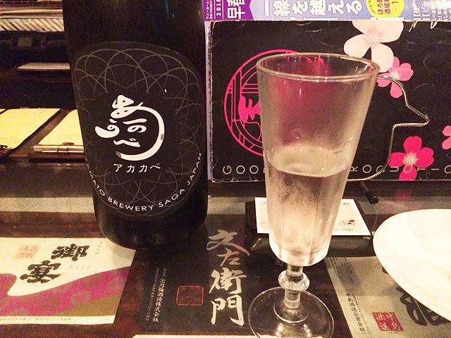 店主が佐賀の日本酒をコーディネートしてくれる、中洲の「さが蔵」