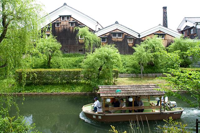 濠川からの月桂冠内蔵酒造場眺望(画像提供:月桂冠)