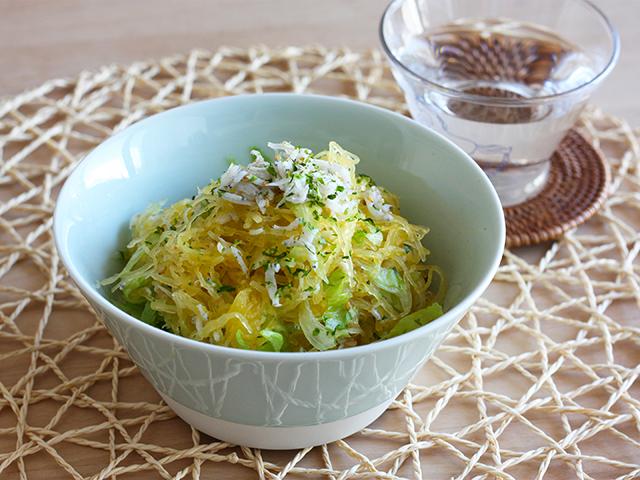 日本酒が飲みたくなる、粋なおつまみレシピ27 そうめんかぼちゃの夏サラダ