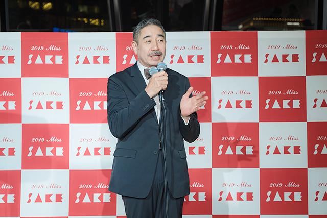 一般社団法人ミス日本酒の顧問をしている「月の桂」代表取締役社長の増田德兵衞さん。ミス日本酒コンテスト立ち上げに関わった方